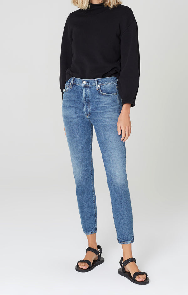 olivia high rise slim fit moments front