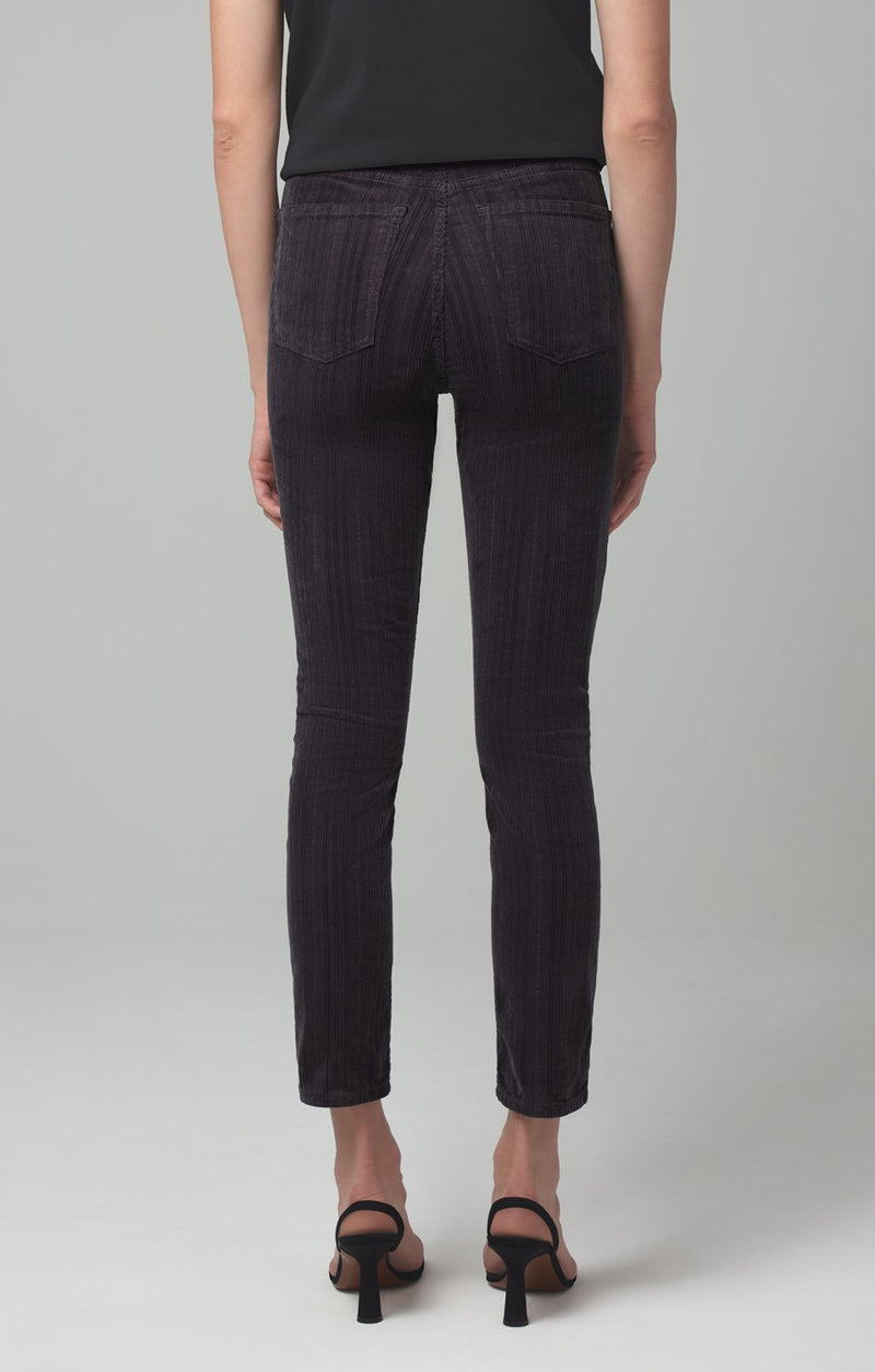 olivia high rise slim fit cosmic grey corduroy side