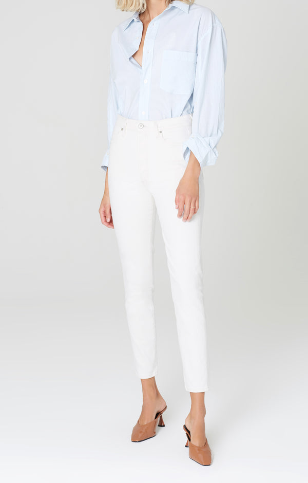 olivia high rise slim fit zen front