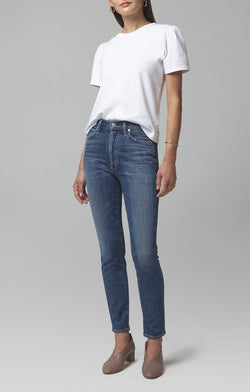 olivia high rise slim fit solo front