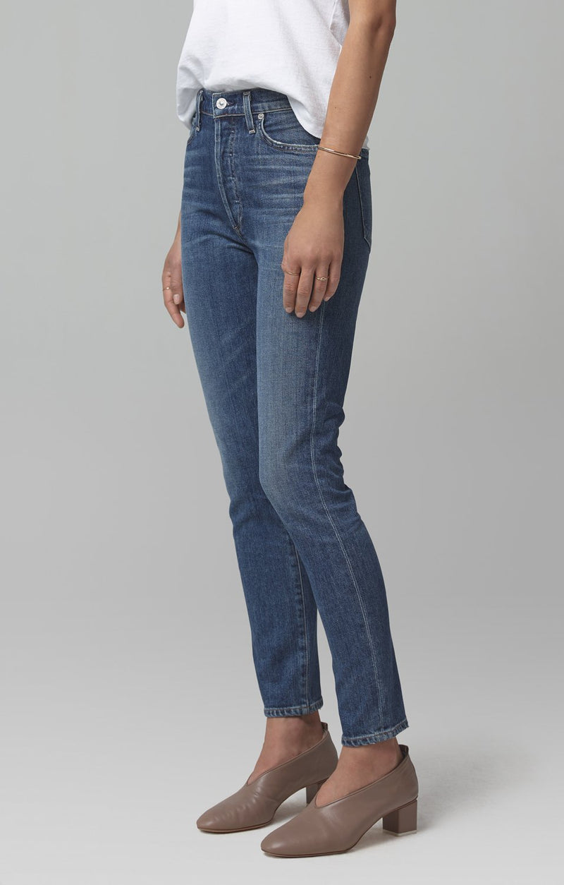 olivia high rise slim fit solo back