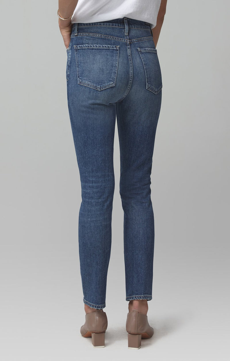 olivia high rise slim fit solo detail