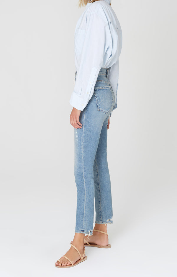 Olivia High Rise Slim Fit Back Road side