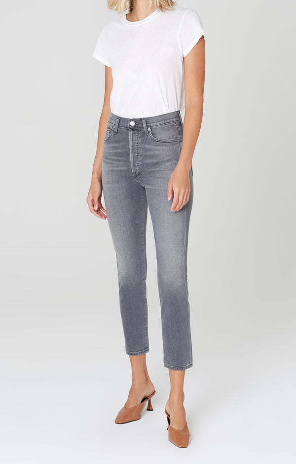 olivia high rise slim fit granite front