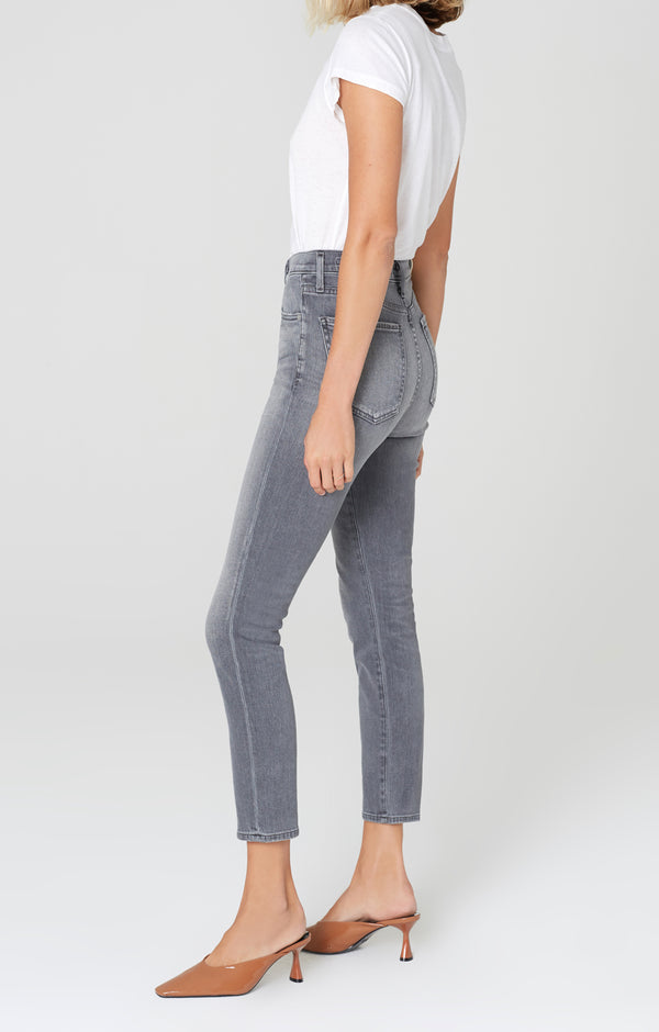olivia high rise slim fit granite side