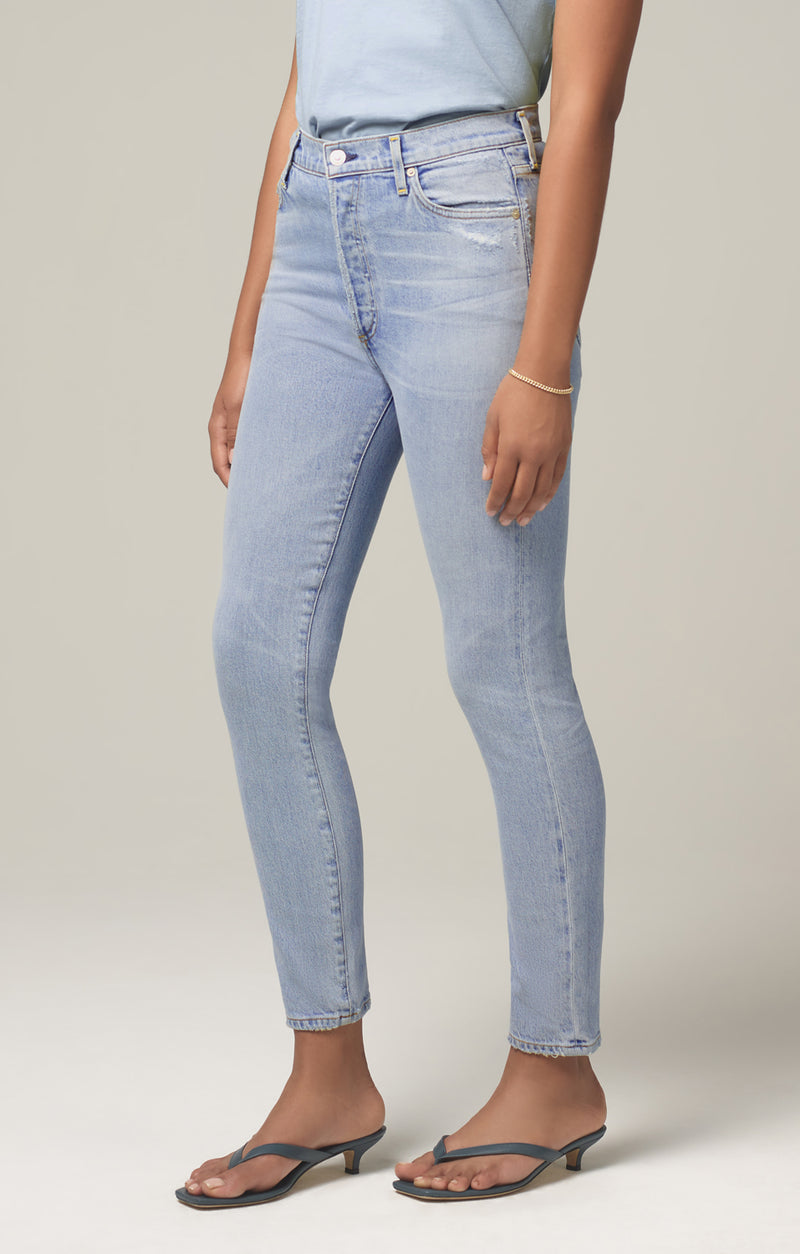 olivia high rise slim fit imagine back