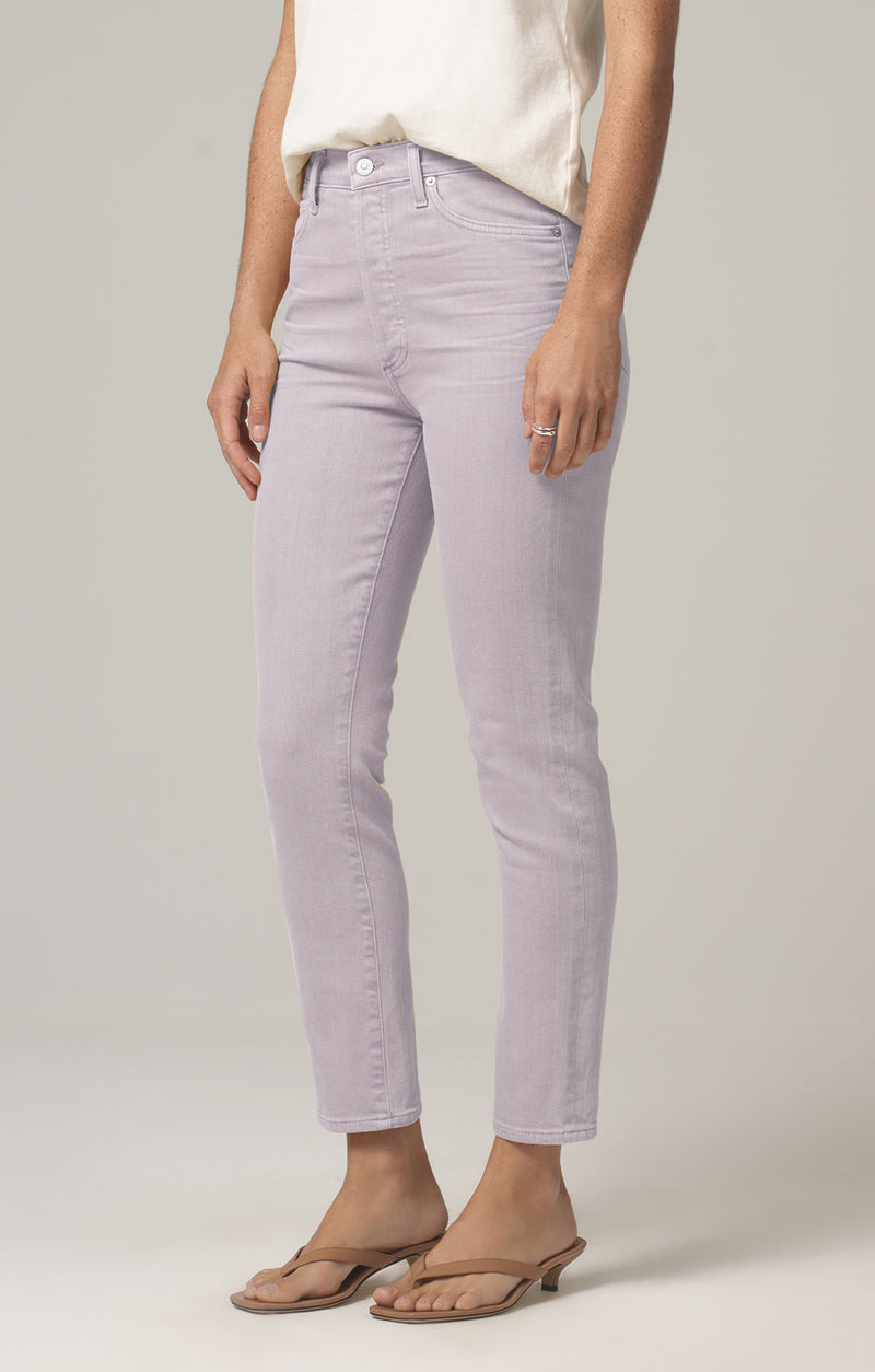 olivia high rise slim fit french lavender side