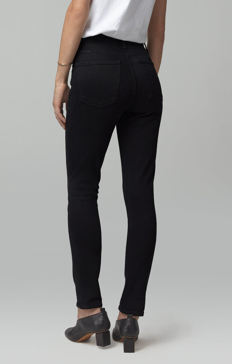 olivia high rise slim fit black side