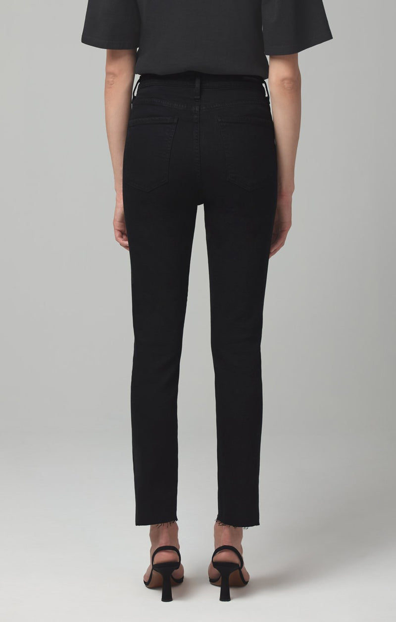 olivia high rise slim fit tomb side