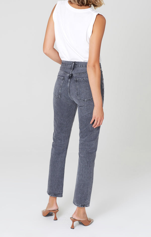charlotte high rise straight fit grayscale back