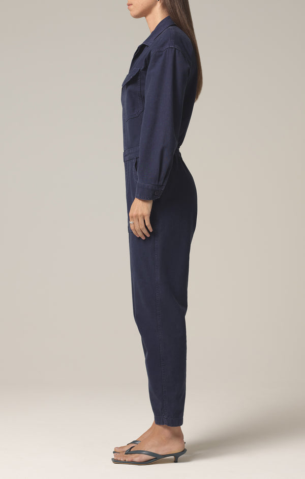 marta jumpsuit washed navy side