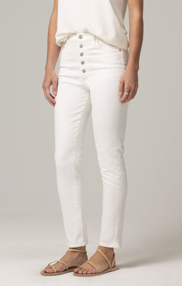olivia high rise slim fit unveil side