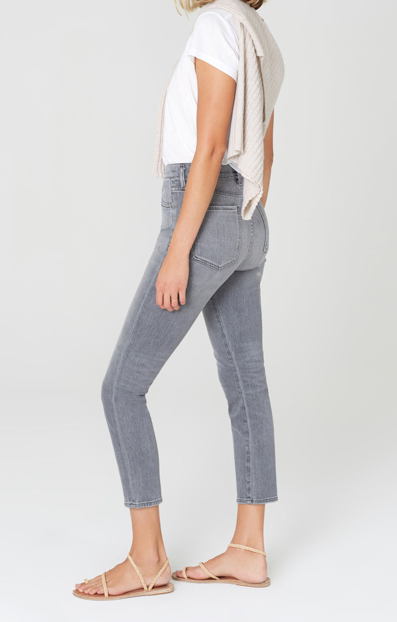 Olivia Crop High Rise Slim Fit Granite side