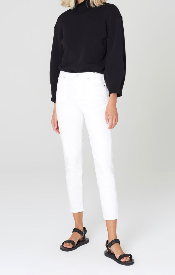 olivia crop high rise slim fit unveil front