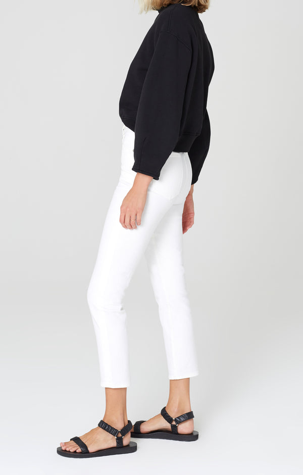 olivia crop high rise slim fit unveil side