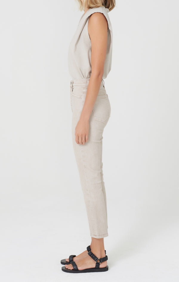 Olivia Crop High Rise Slim Fit Feather