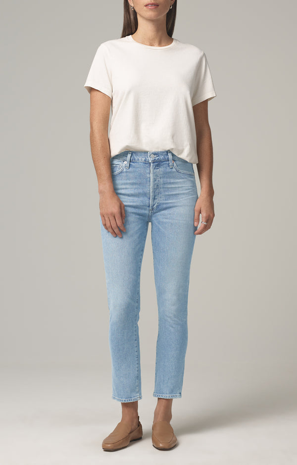 Olivia Crop High Rise Slim Fit in Renew