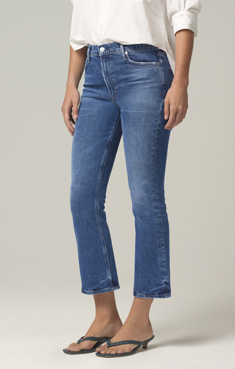 demy cropped flare denim moments side