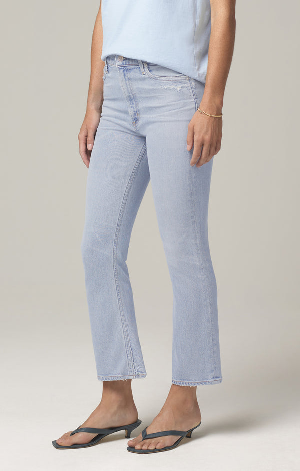 Demy Cropped Flare Denim Petite in Imagine