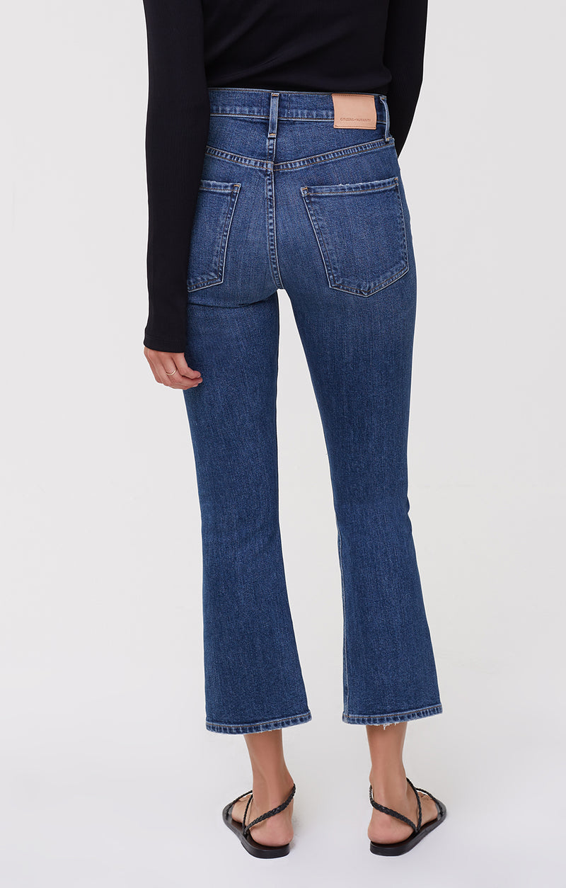 Demy Cropped Flare Denim Distressed Tempo back