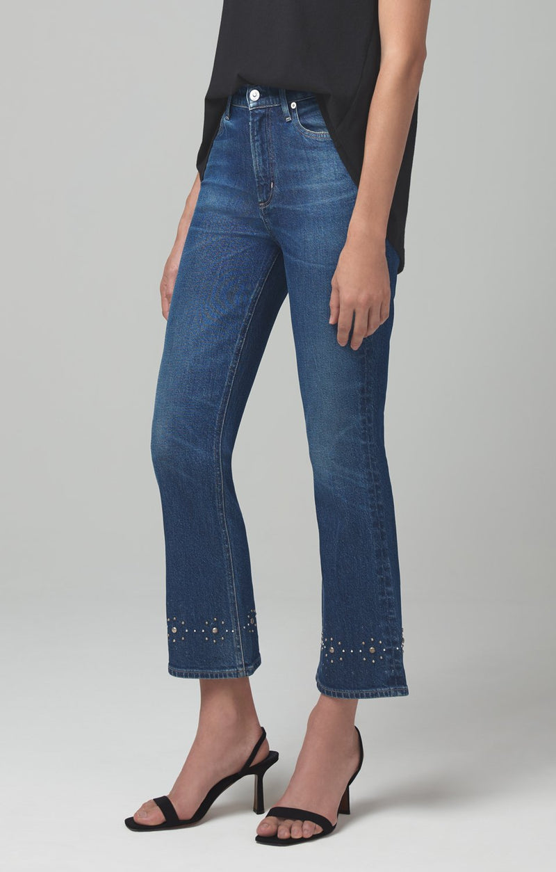 demy cropped flare gleams stud side