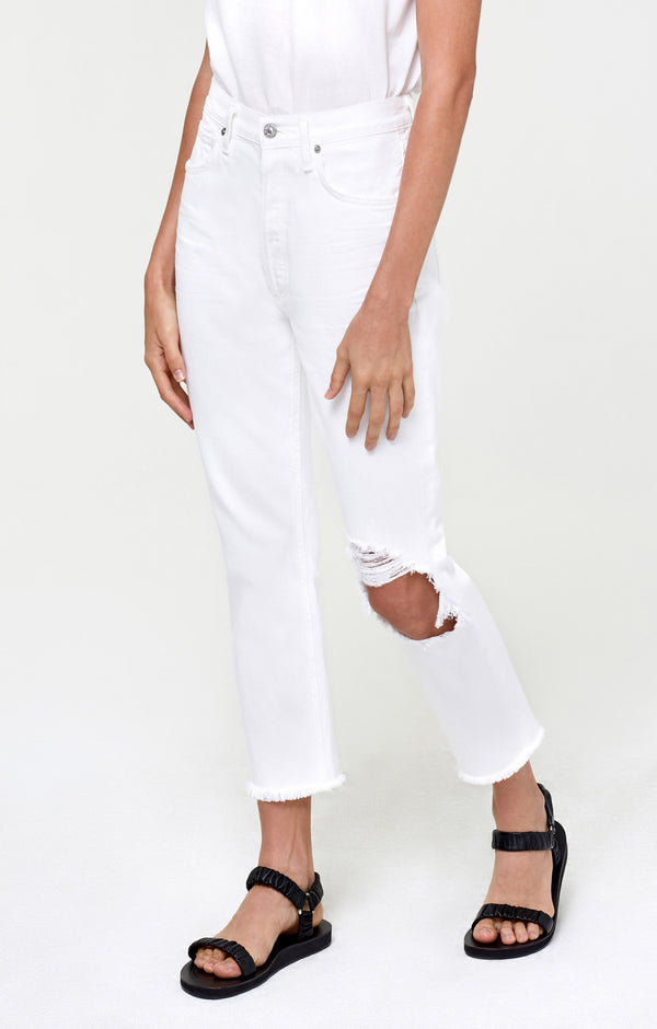 Charlotte Crop High Rise Straight Fiori side