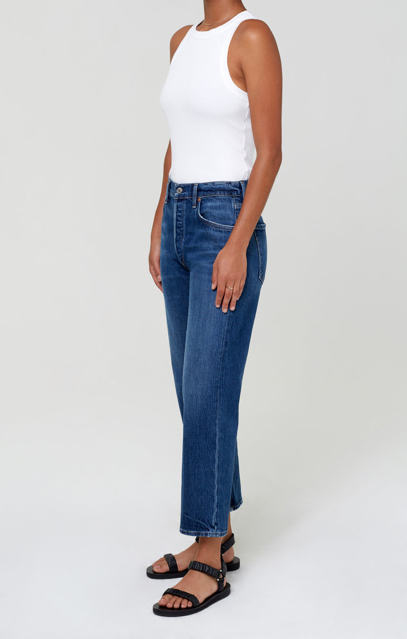 Emery High Rise Relaxed Crop Laid Back