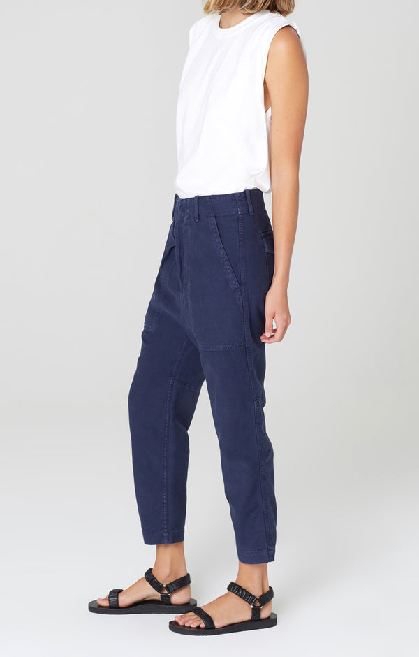 harrison tapered pant washed navy side