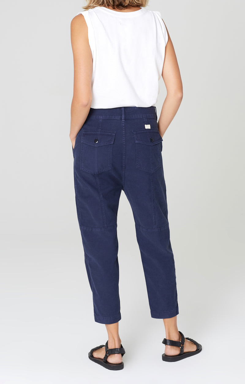 harrison tapered pant washed navy back