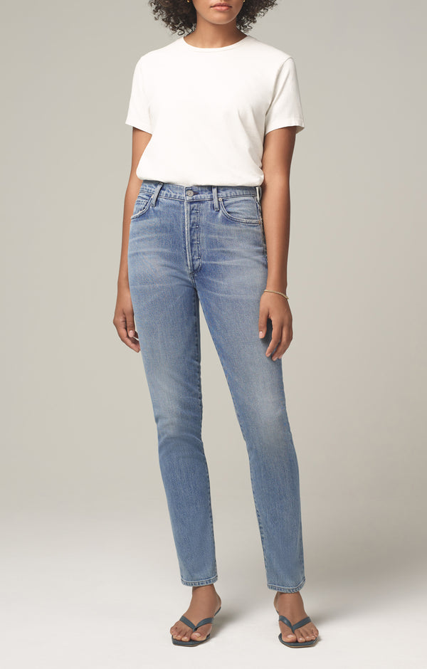 olivia long high rise slim fit so long front