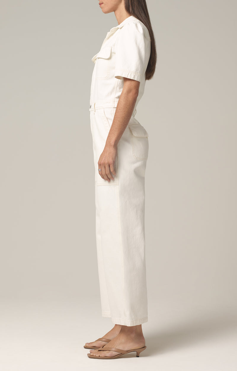 Miki Jumpsuit in White Willow