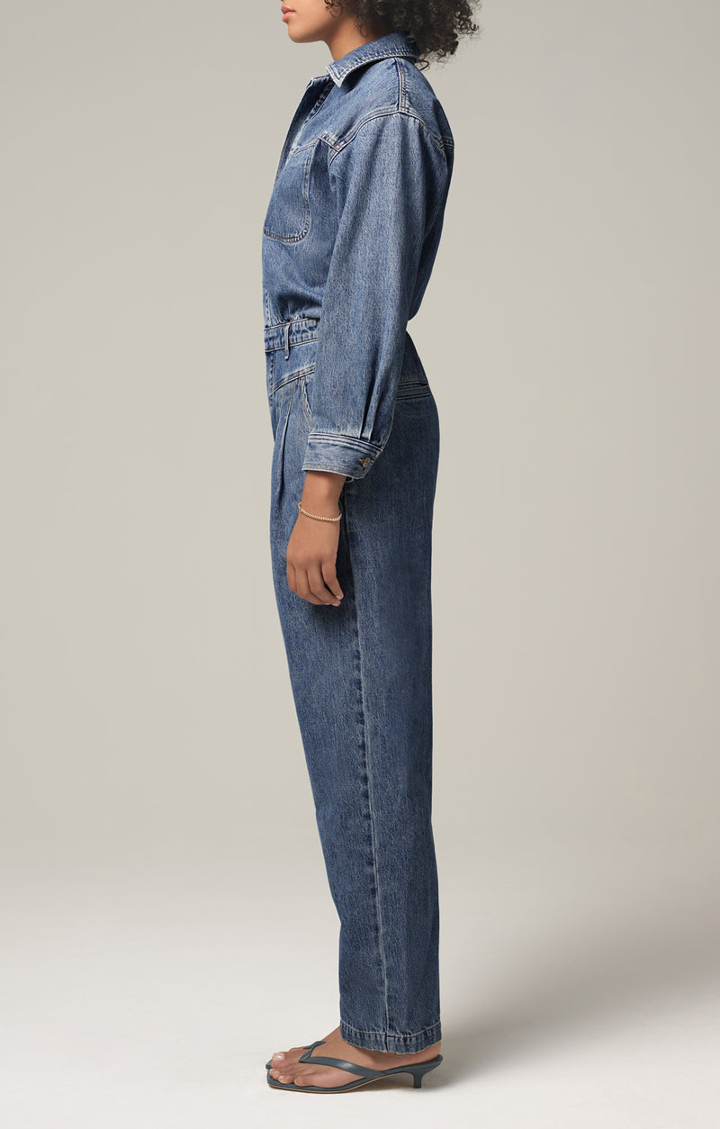 mae pleat yoke jumpsuit dreamer side