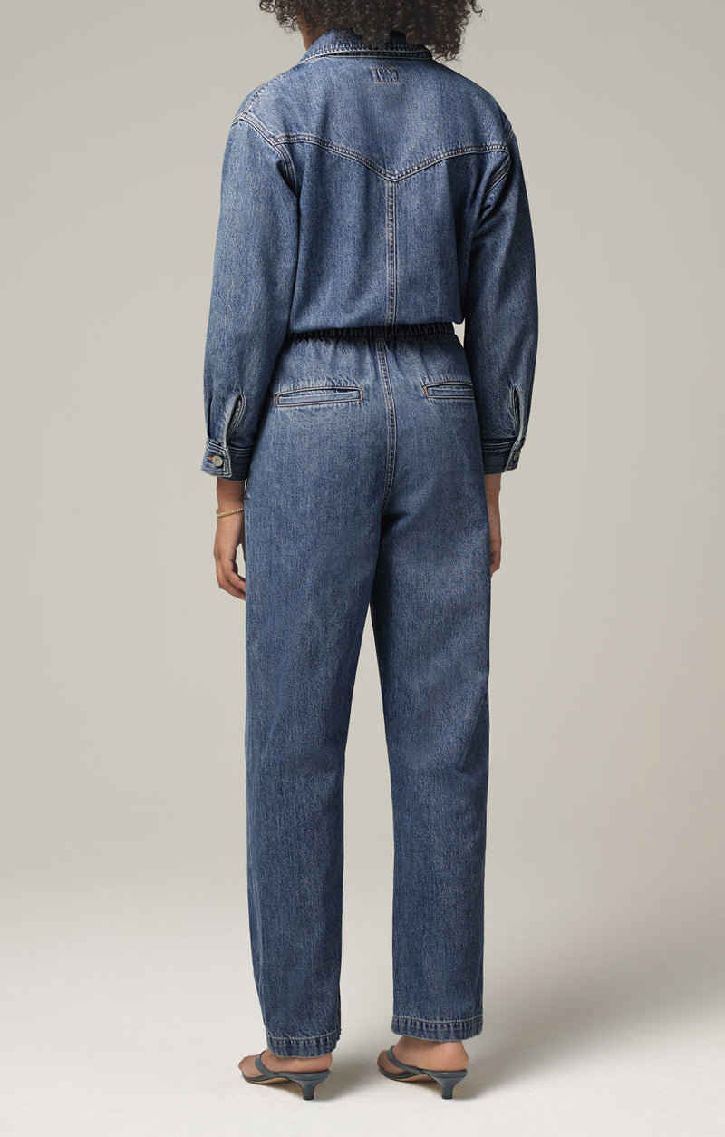 mae pleat yoke jumpsuit dreamer back