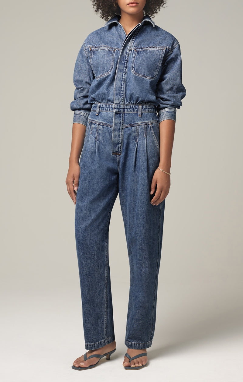 mae pleat yoke jumpsuit dreamer front