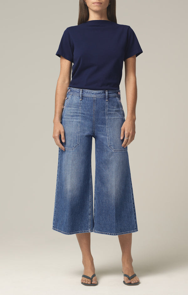 jackie side button culotte favorite front