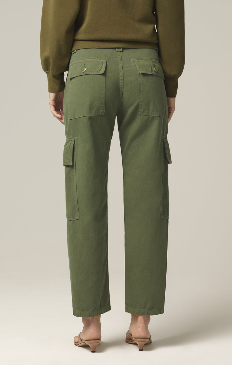 zadie high rise surplus pant aloe back