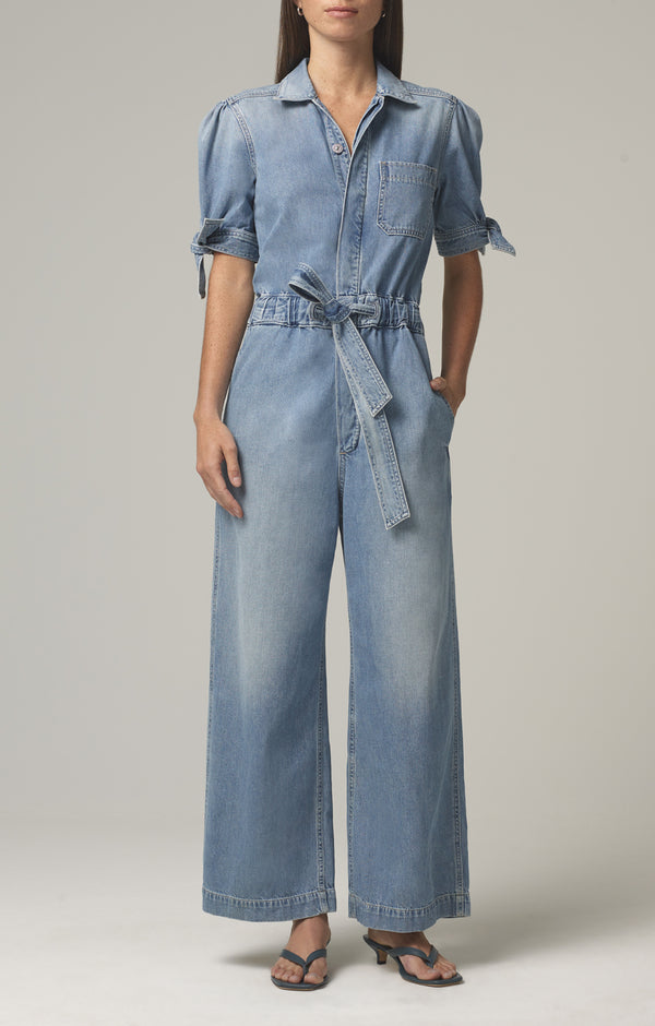 robyn knot sleeve jumpsuit amore front