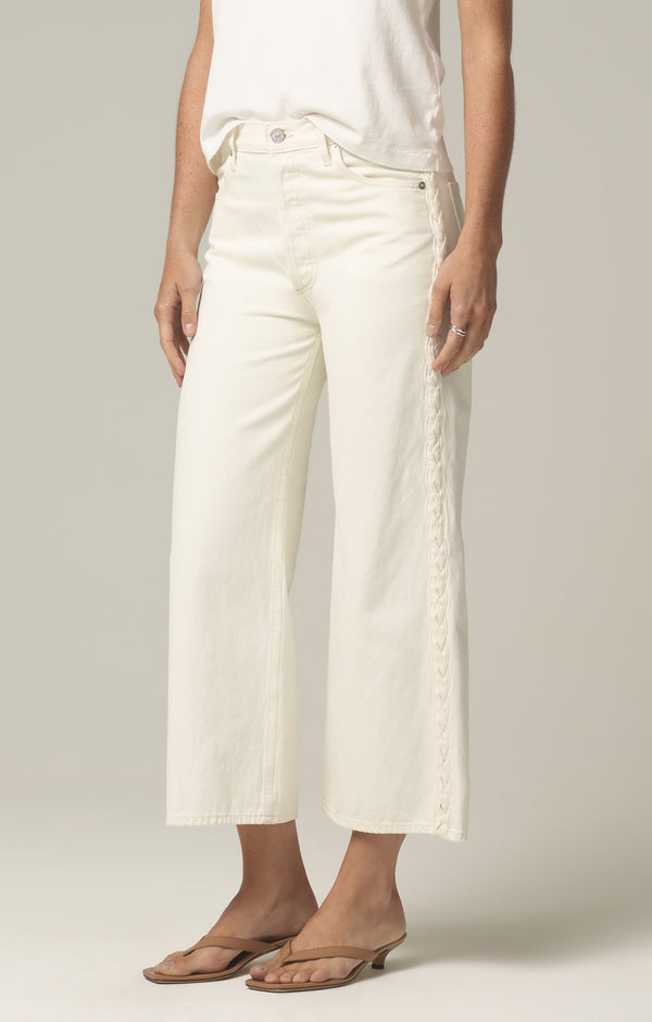 sacha high rise wide leg white willow side