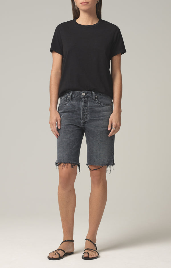 claudette mid length short closer front