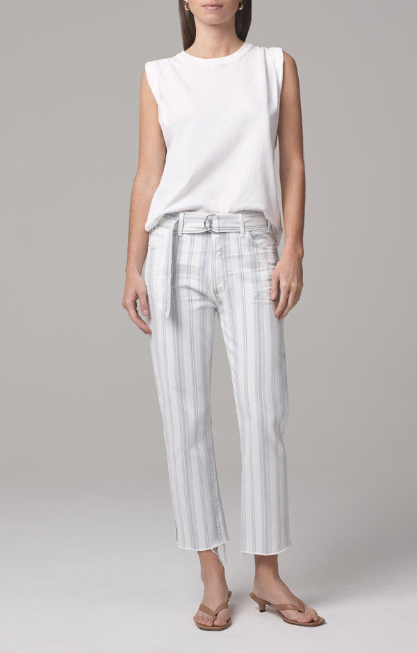Belted Emery Relaxed Crop June Stripe front