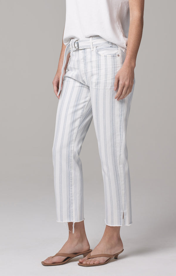 Belted Emery Relaxed Crop June Stripe side