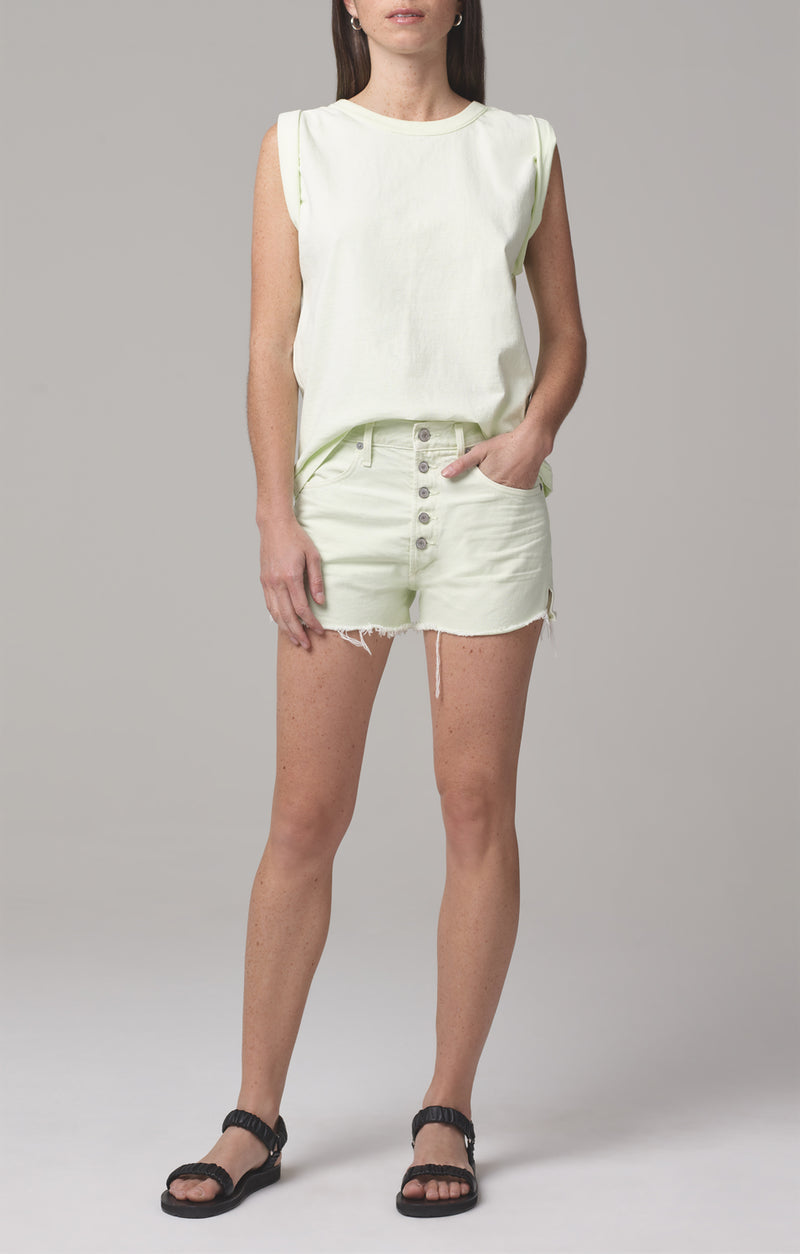 annabelle cut off short lemongrass front