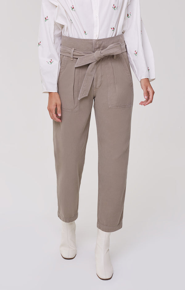 Noelle Belted Cargo Desert Taupe front