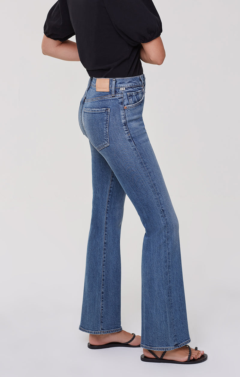 Lilah High Rise Bootcut On And On side