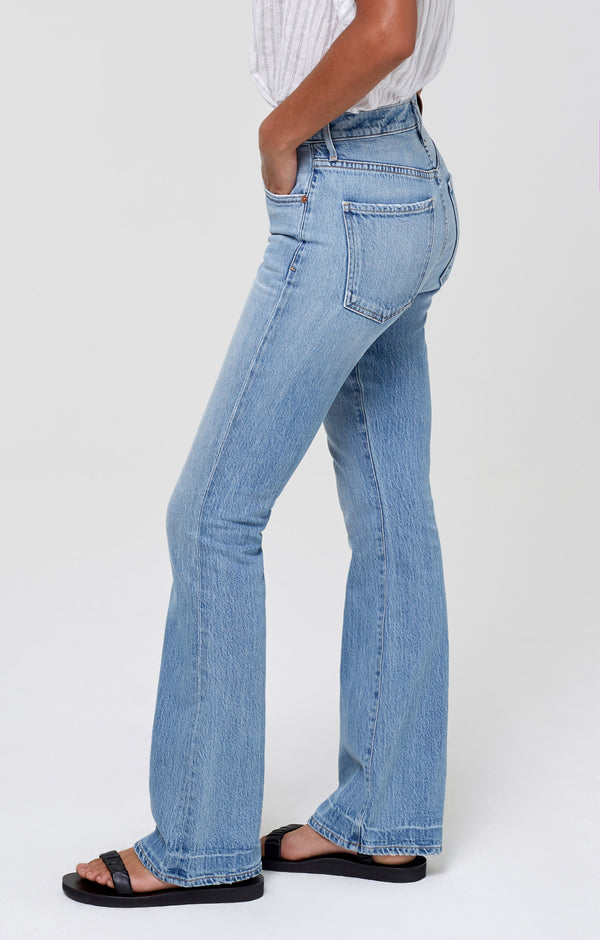 Lilah High Rise Bootcut Blue Sky side