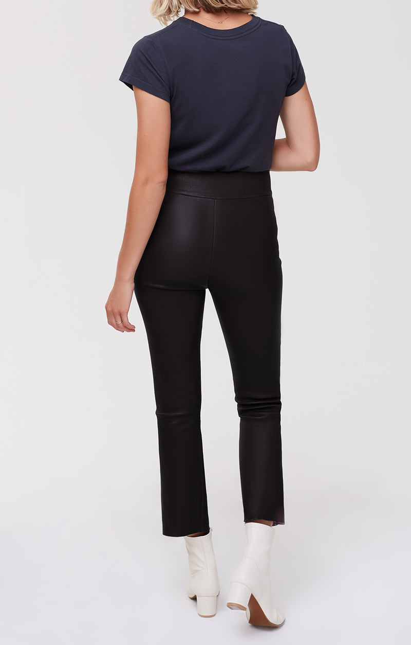 Colette Leather Pull on Bootcut Black back