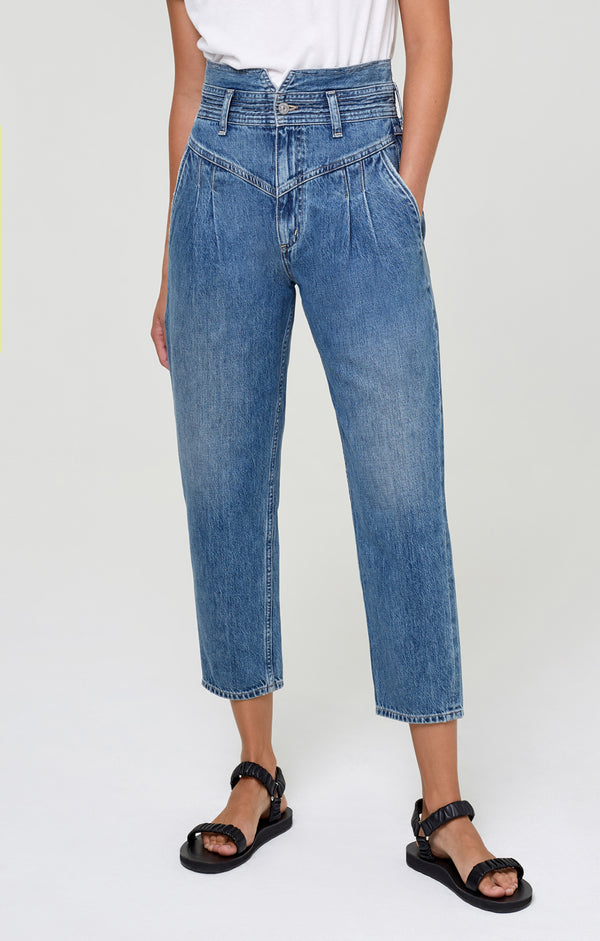 Maeve Pleated Jean Meadowlark front