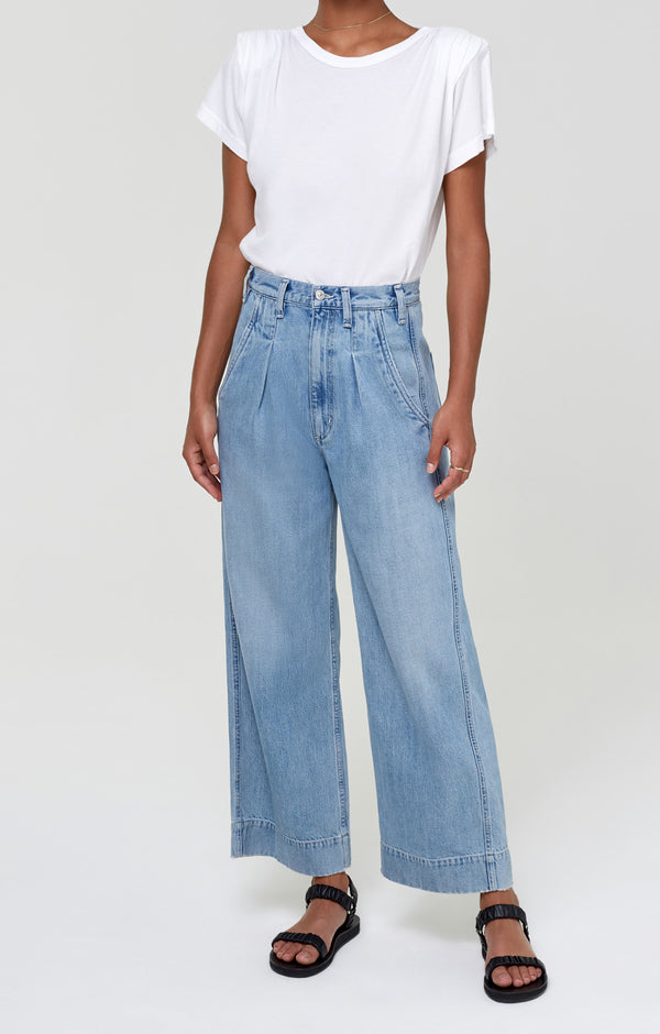 Elena Pleated Wide Leg Pant Nautika front
