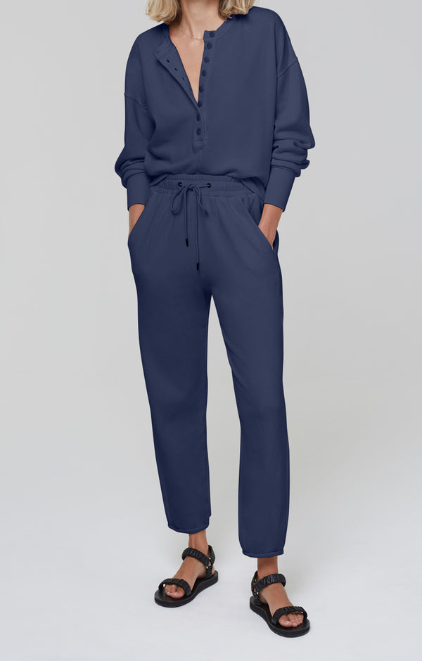 Laila Casual Fleece Pant Navy front