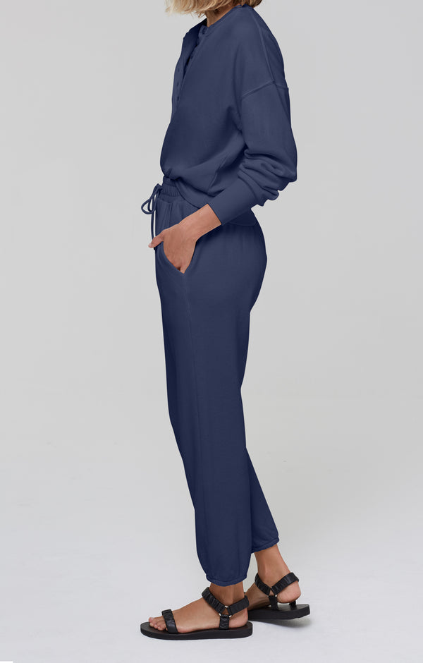 Laila Casual Fleece Pant Navy side